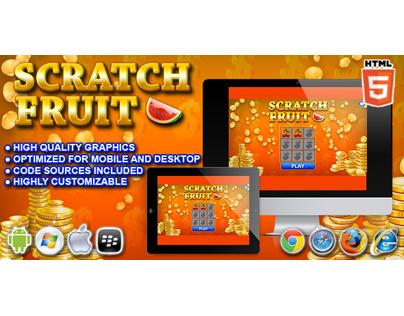 HTML5 game: Scratch Fruit