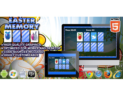 HTML5 game: Easter Memory