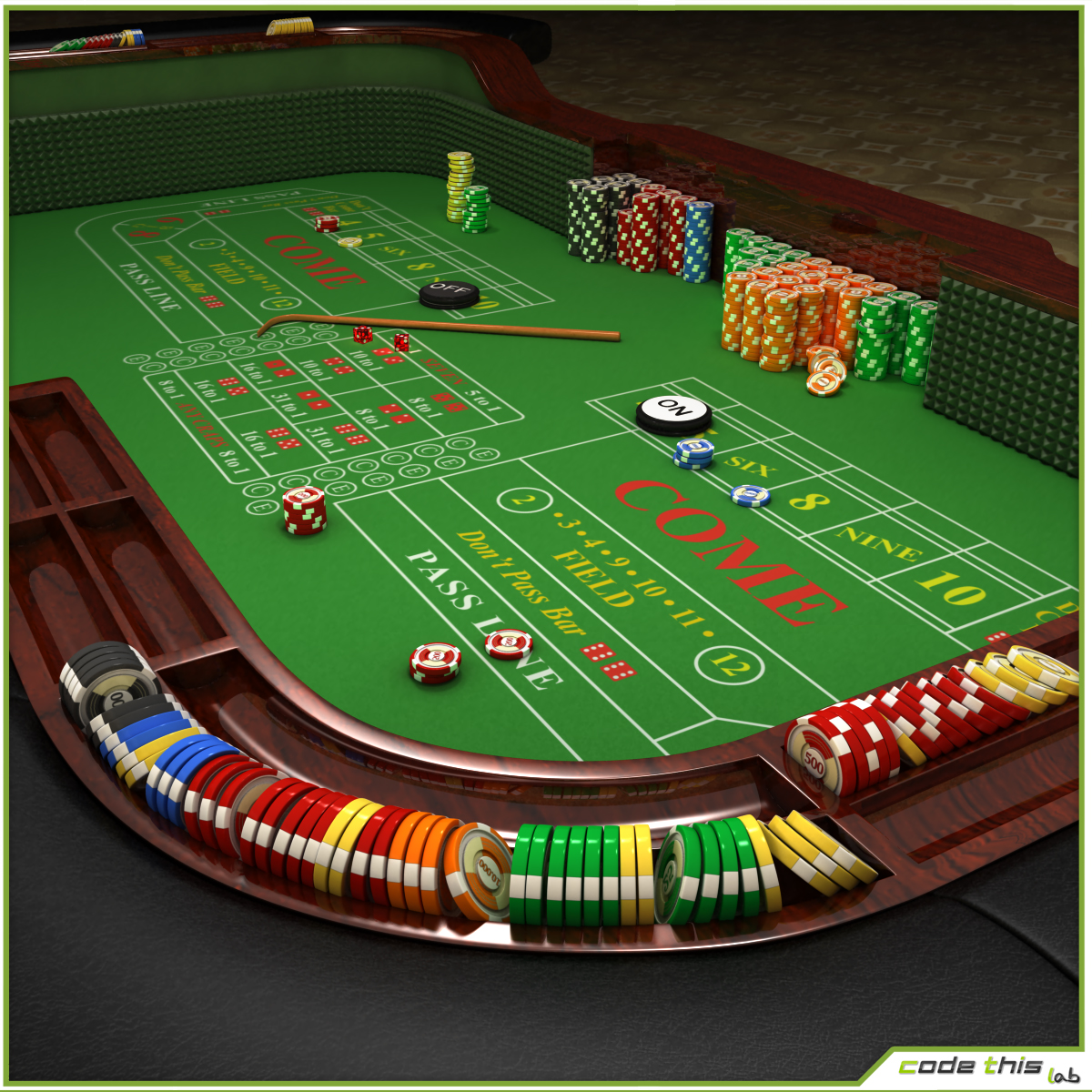 Casino Craps Table