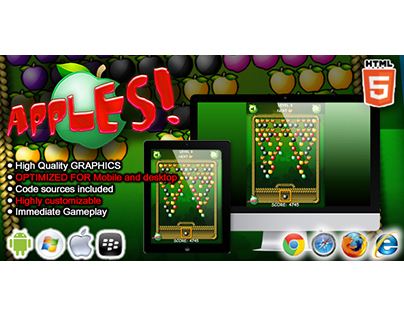 HTML5 game: Apples (Puzzle Game)