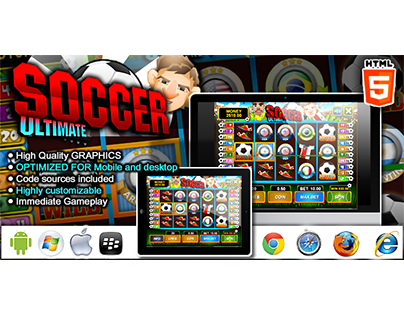 HTML5 game: Slot Machine Ultimate Soccer (Casino Game)