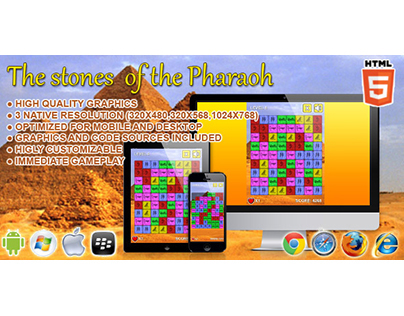 HTML5 game: The Stone of the Pharaoh (Puzzle Game)
