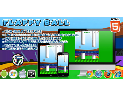 HTML5 game: Flappy Ball (Flappy Bird clone)