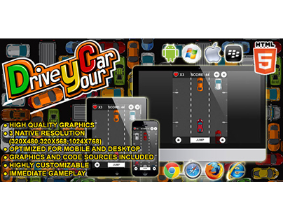 HTML5 game: Drive Your Car (Running Game)