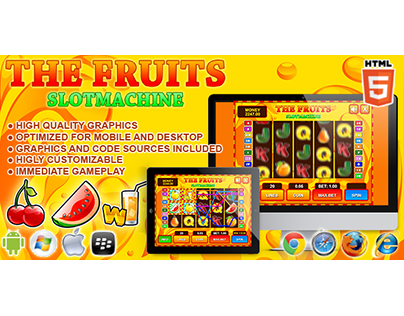 HTML5 game: Slot Machine The Fruits (Casino Game)