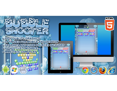 HTML5 game: Bubble Shooter (Puzzle Bobble clone)