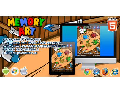 HTML5 game: Memory Art (Simon Game Clone)