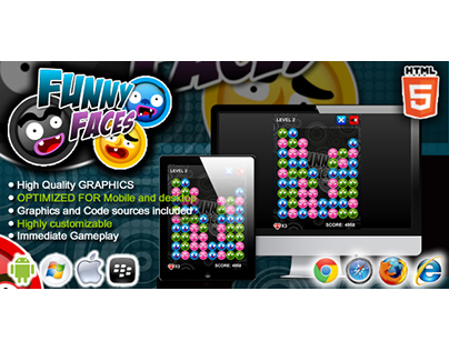 HTML5 game: Funny Faces