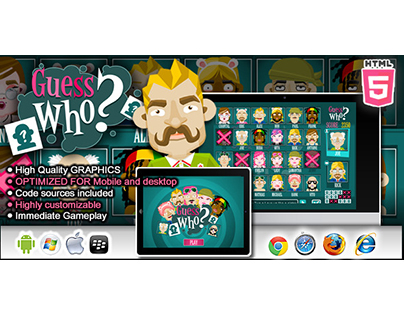 HTML5 game: Guess Who?