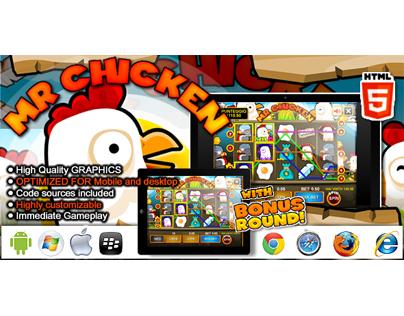 HTML5 game: Slot Machine Mr. Chicken