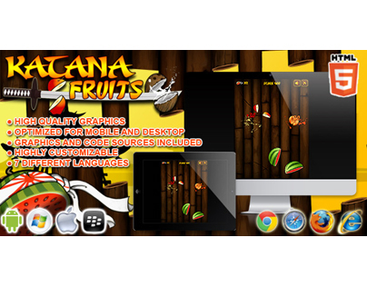 HTML5 game: Katana Fruits