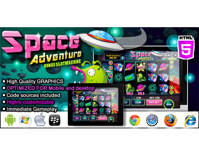 HTML5 game: Slot Machine Space Adventure