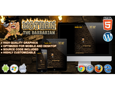 HTML5 Game: Wothan the Barbarian