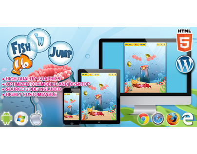 HTML5 Game: Fish 'n Jump