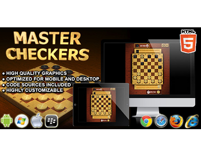 HTML5 game: Master Checkers