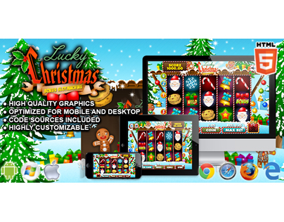 HTML5 Game: Slot Machine Lucky Christmas