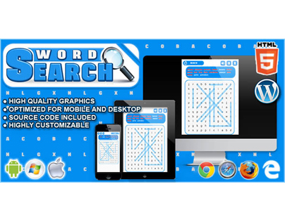 HTML5 Game: Word Search