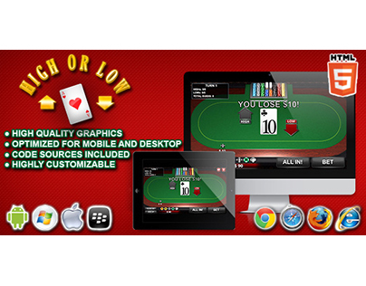 HTML5 game: High or Low