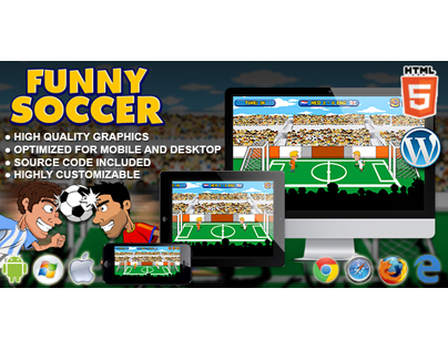 HTML5 Game: Funny Soccer