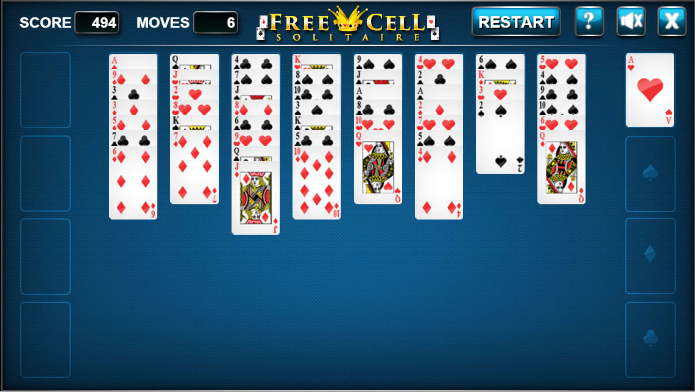 HTML5 game: Free Cell Solitaire - Code This Lab srl