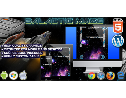 HTML5 Game: Galactic Maze