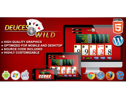 HTML5 Game: Video Poker Deuces Wild