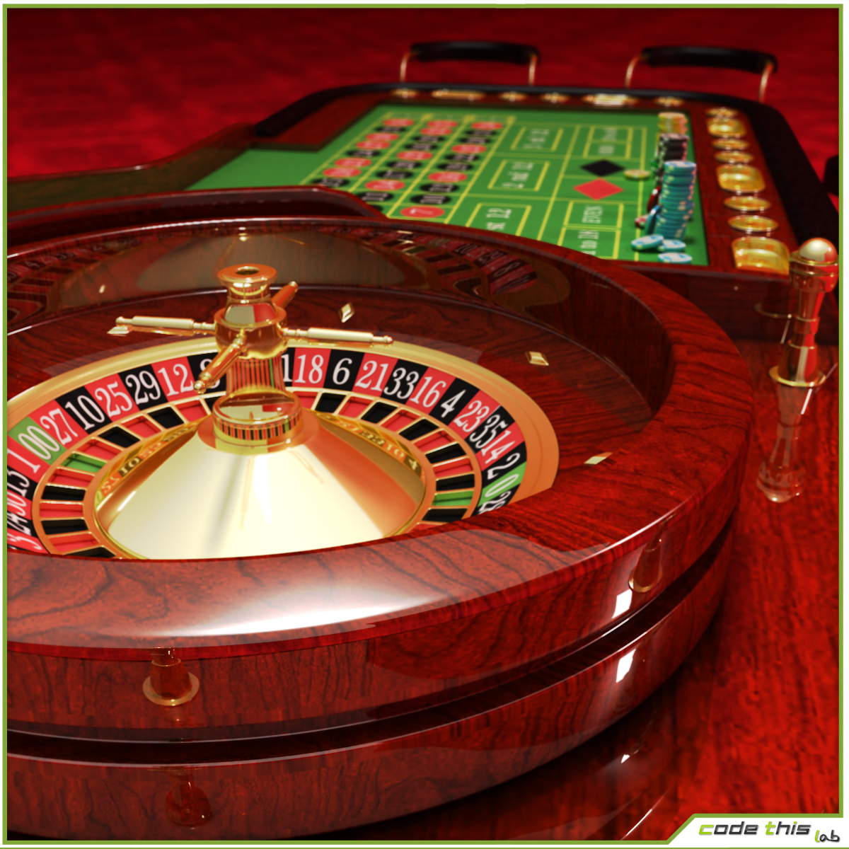 3d Model Casino Roulette Table Cg Code This Lab Srl