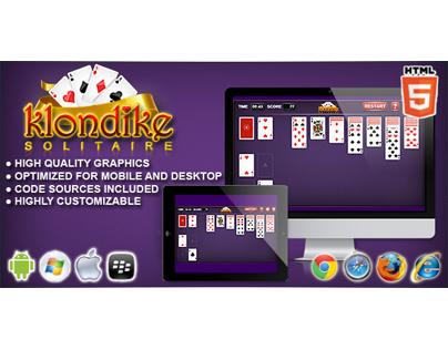 HTML5 game: Klondike Solitaire