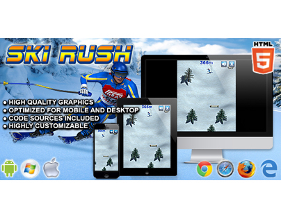 HTML5 Game: Ski Rush