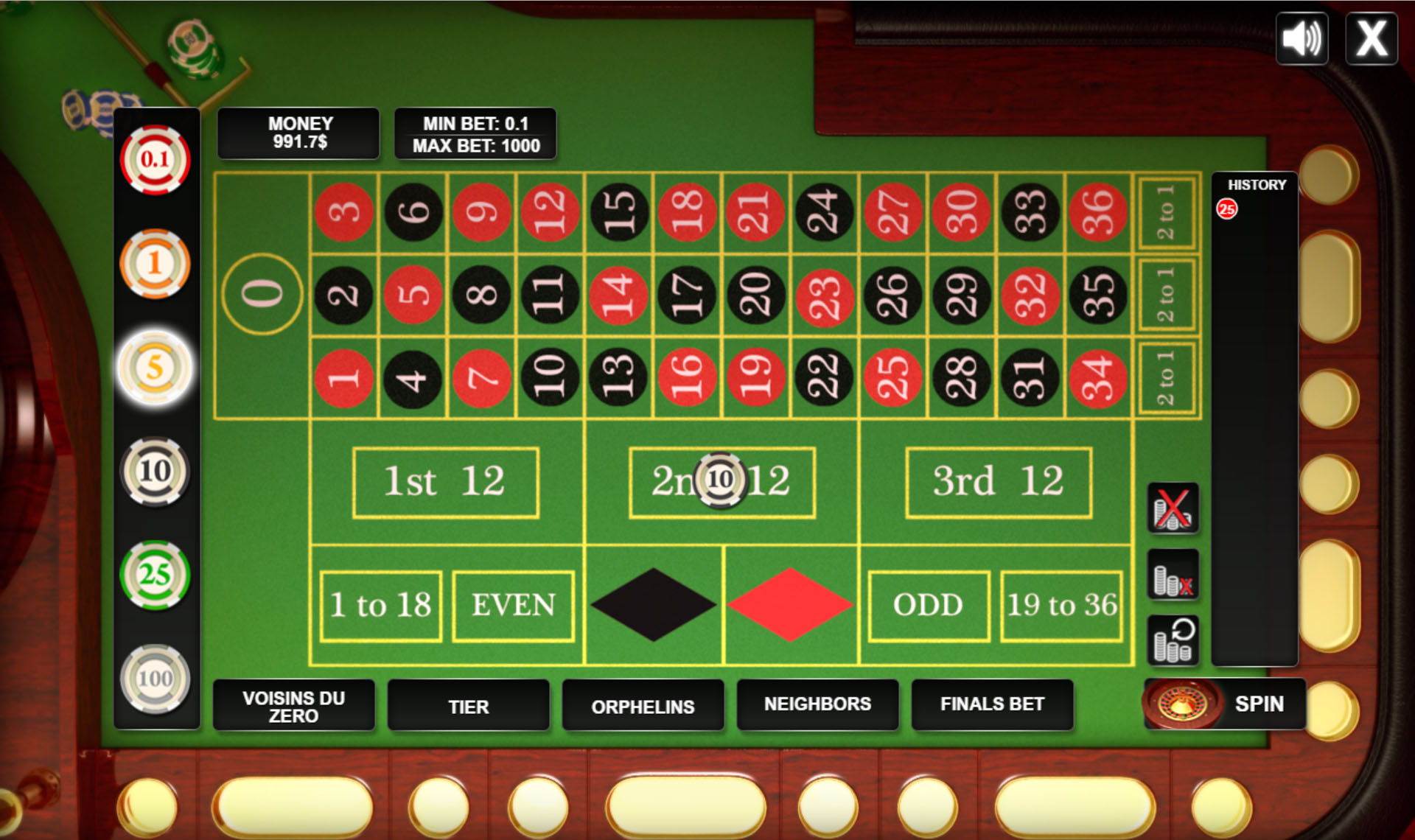 Roulette html5 code