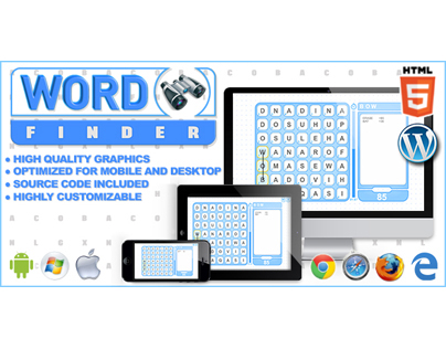 HTML5 Game: Word Finder