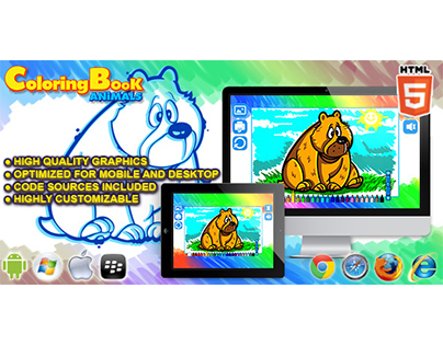 HTML5 Game Coloring Book