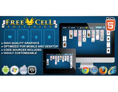 HTML5 game: Free Cell Solitaire