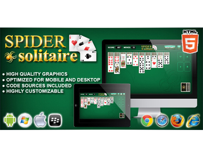 HTML5 game: Spider Solitaire