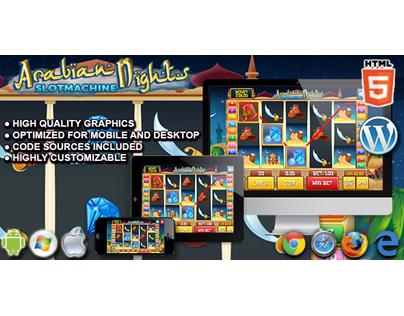 HTML5 Game: Slot Machine Arabian Nights