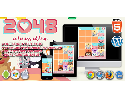 HTML5 Game: 2048 Cuteness Edition