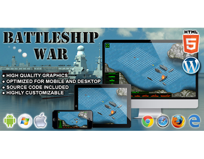 HTML5 Game: Battleship War