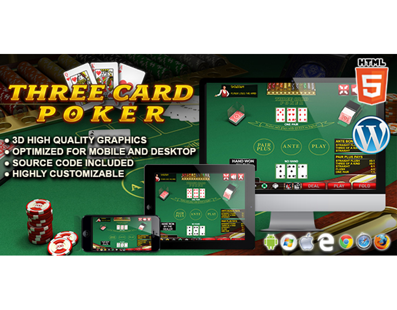 HTML5 Game: Three Card Poker