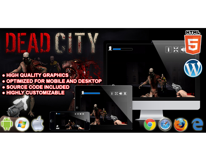 HTML5 Game: Dead City