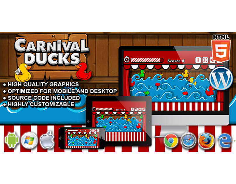 HTML5 Game: Carnival Ducks