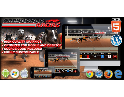 HTML5 Game: Greyhound Racing