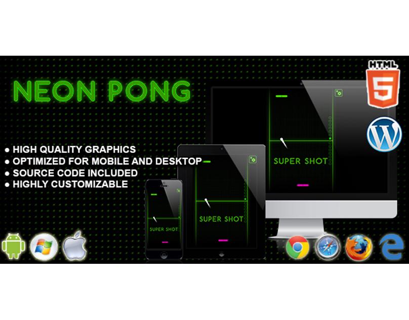 HTML5 Game: Neon Pong