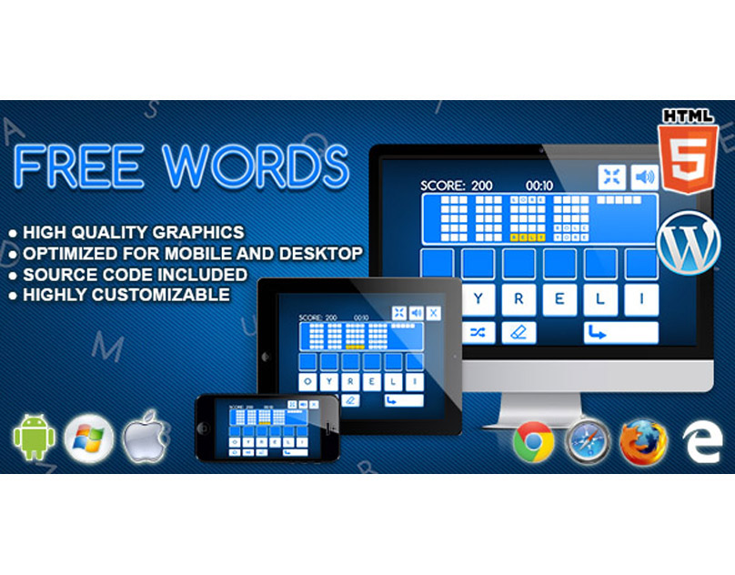 HTML5 Game: Free Words