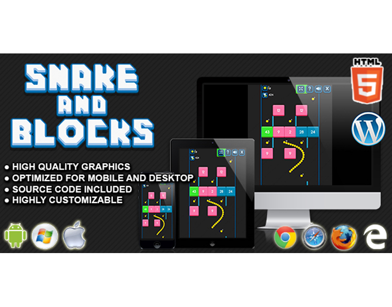 HTML5 Game: Snake and Blocks