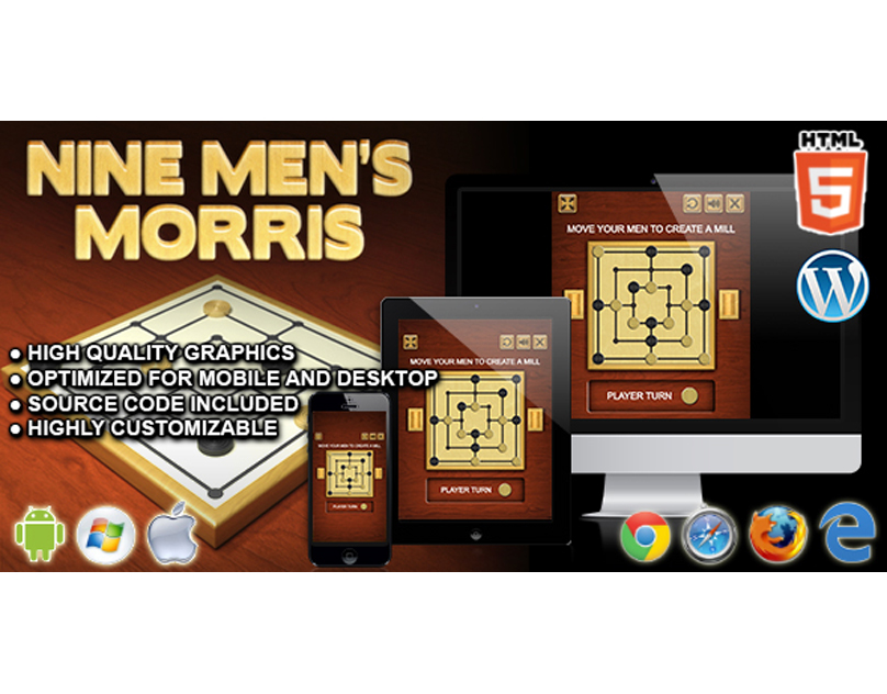 HTML5 Game: Nine Men's Morris