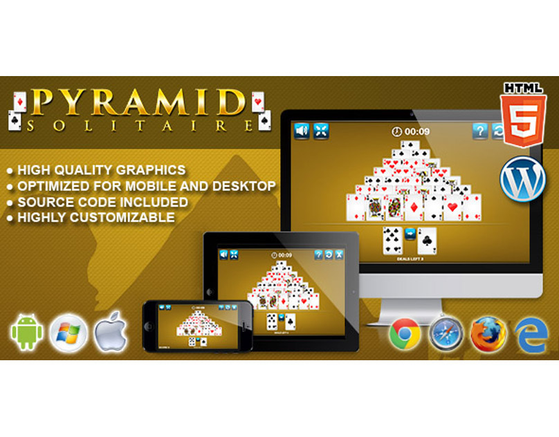 HTML5 Game: Pyramid Solitaire