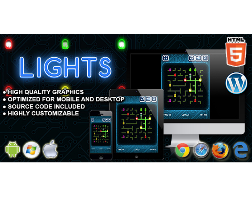 HTML5 Game: Lights