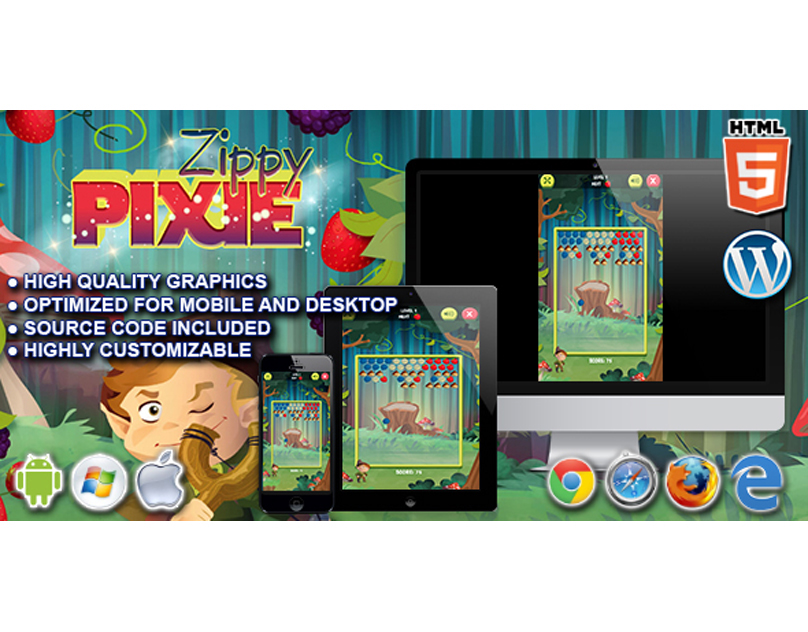 HTML5 Game: Zippy Pixie