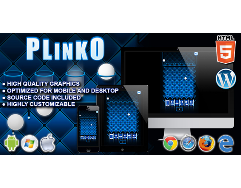 HTML5 Game: Plinko -Instant Win Edition