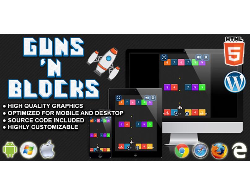 HTML5 Game: Guns 'n Blocks